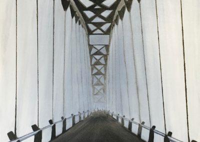 Foggy Morning over Humber Bay Arch Bridge