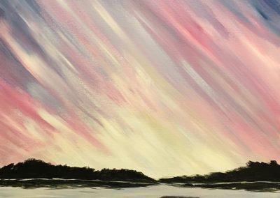 Sunset over Dark Lake
