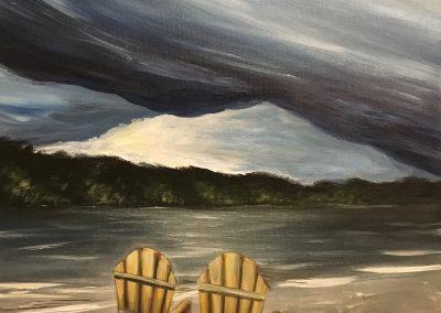 Dark Lake - the storm